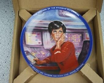 Hamilton Limited Edition Star Trek Collector's Plate In Original Box - Uhura