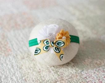 Green Bay Packers Headband, Baby Packers Headband, Great Green Bay Newborn Photo Prop