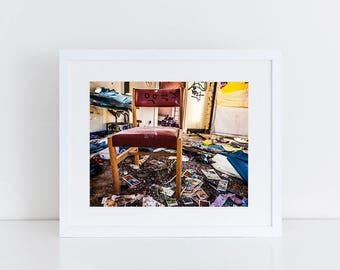 Mental Hospital Chair - Urban Exploration - Fine Art Photography Print