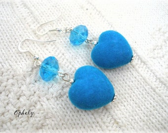 Suede and glass earrings * OPHELY