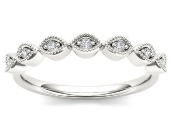 10Kt White Gold Diamond Wedding Band