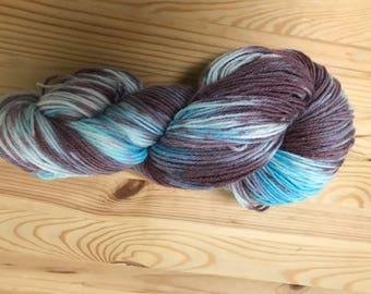 Kool Aid dyed yarn - merino wool - sock yarn - hand dyed Sock yarn -  fingering weight - Variegated Yarn -  Merino wool - hand dyed wool-