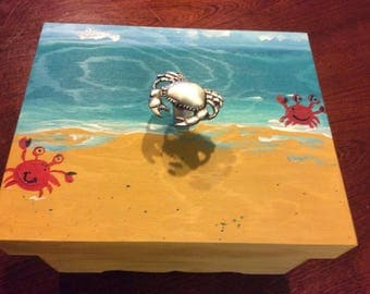 Crabs on the Beach on a Box