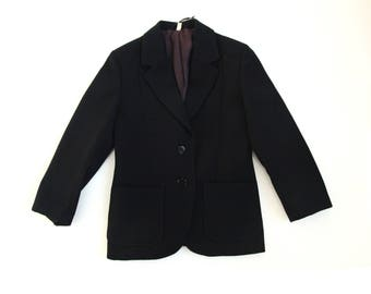 Great navy blue boys blazer size 8 y vintage 70s