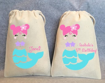 "15- Mermaid Party, Mermaid Party Favor, Mermaid Birthday, Mermaid birthday supplies, Mermaid party favor bags- 4""x6"""