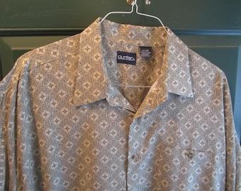 Button Front Men's Dress Shirt Size 3XL