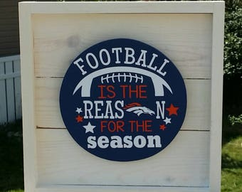 Slat Signs, Home Decor, Wood Sign, Football Decor, Sports Decor, Football is the reason for the season