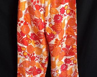 Vintage Bob Mackie Studio High Waisted Floral Capris
