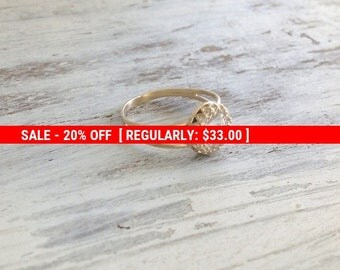 SALE 20% OFF Gold ring, wedding ring, stacking ring, vintage ring, stackble ring, clear crystal ring, stackble gold ring, white 7020