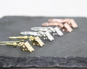 Cheese Earrings, Foodie Gift, Rose Gold Earrings, Chef Gift, Cheese Jewelry, Miniature Food Earrings, Silver Earrings, Food Lover Gift