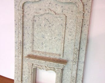 Dollhouse Furniture Fireplace Mantle * Granite Faux * NEW!