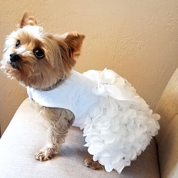 Dog Wedding Dress Dog Dress Dog Clothing Pet Clothing