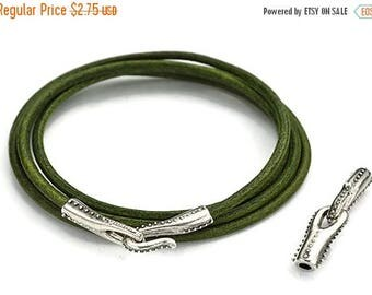 30% OFF 3MM Round Curved Beaded Hook Clasp - Antique Silver - High Quality Metal Casting - Qty. 1