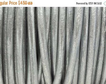 30% OFF 5MM Round Leather Cord - Antique Silver - 2ft/24""