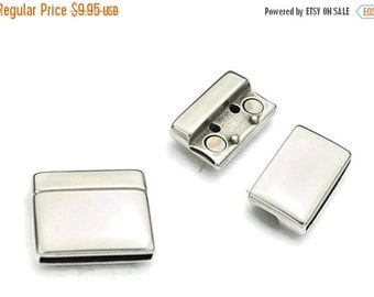 30% OFF 25MM Magnetic Clasp - Strong Magnet - Antique Silver - Qty. 1