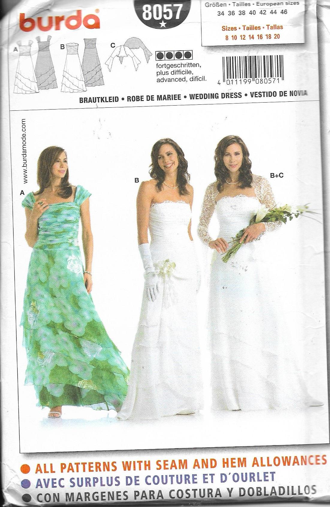 Stunning uncut sewing pattern burda 8057 wedding dress sold by everypictellsastory jeuxipadfo Choice Image