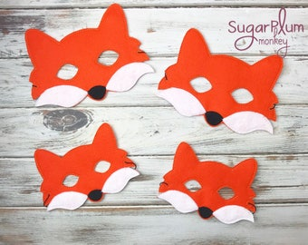 Fox Mask, Mr. Fox, Children's Felt Fox Mask