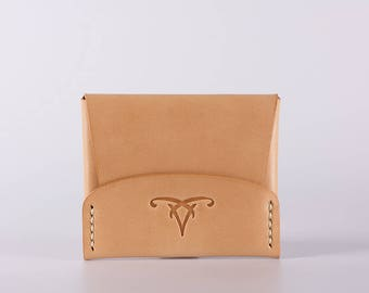 CardShell™ Cash Cardcase Leather Wallet - Natural Herman Oak Leather