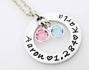 Custom long distance love relationship necklace going away gift for her long distance relationship gift custom with your names and miles