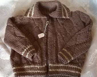 Brown knit vest lili