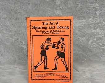 Art of Sparring & Boxing - Vintage Boxing Book - Martial Arts Gift - Boxing Manual - Boxing Instructional Book - Gift for Boxer Boxing Fan