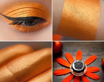 Eyeshadow: Freckled Laughter - Mermaid. Cheerful tangerine eyeshadow by SIGIL inspired.