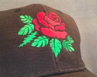 Grateful Dead inspired Rose embroidered hat