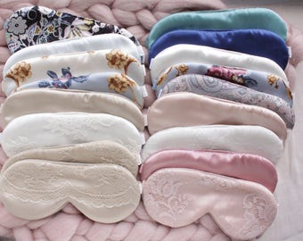 Silk Sleep Mask Grab Bag / Lace Sleep Mask / Satin sleep mask / Floral Lace mask / Silk Eye Mask / Sleeping mask / Travel Mask