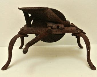 Antique Cast Iron Cherry Stone Pitter Rusty Rustic Home & Garden Decor Farmhouse Farm Tool