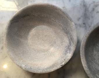 Handmade marble bowls display food dishes dip or nibble bowls