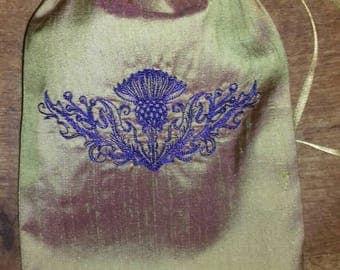 Scottish Thistle Tarot bag