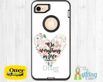 Monogram OtterBox, Custom Phone Case, OtterBox Defender, Personalized Case, iPhone 7 OtterBox, iPhone 8, Samsung Galaxy, Biblical Scripture