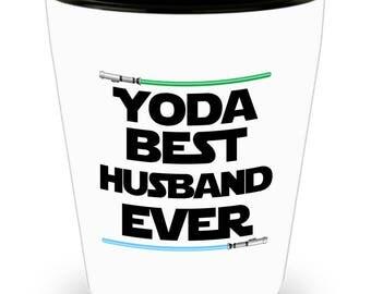 Yoda Best Husband Ever Star Wars Birthday Funny Nerd Gift Shot Glass