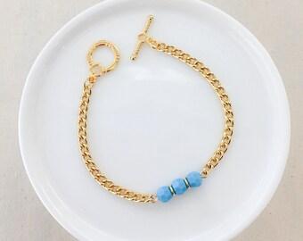 Dainty Teal Bracelet