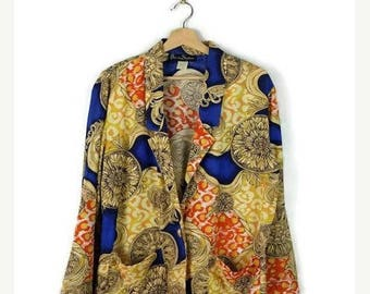 ON SALE Vintage Colorful Abstract Slouchy Blazer from 1980's*