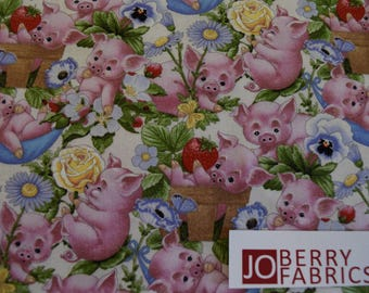 Reserve Listing for RHONDA for 2 Yards of This Little Pig by Ami Morehead for Elizabeth Studio, Quilt or Craft Fabric, Fabric by the Yard.