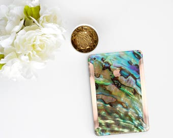 Abalone Shell with Rose Gold Detailing Vinyl Skin for the iPad Air 2, iPad mini 4 , iPad Pro - Platinum Edition