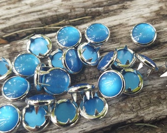 Turquoise pearl snaps, Pearl Snap Fasteners, 11 mm Pearl Snaps