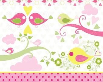 80% OFF SALE bird tweet clipart commercial use, vector graphics, digital clip art, digital images - CL430