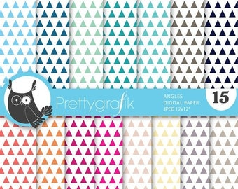 80% OFF SALE triangle geometric digital paper, commercial use, scrapbook papers, background - PS637
