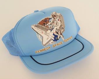 Vintage Kennedy Space Center '80s Snapback Hat VTG
