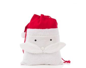 Santa Sack,  Santa bag, Christmas gift sacks, Santa Face Sack, Christmas Stocking, TOP SELLER