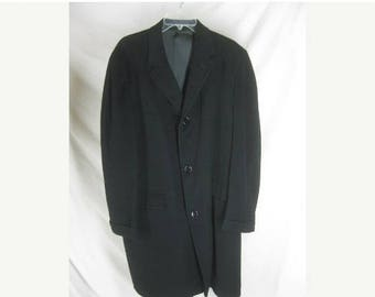 On sale Vintage 50s H Seeberg Mens 100% CASHMERE Coat Jacket