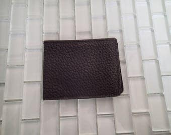 1940s Black Leather Folding Wallet
