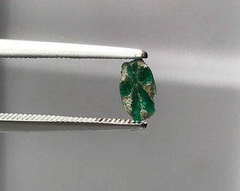 Trapiche Emerald slice Muzo Mine Colombia E0178