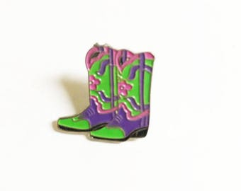 Cowgirl Boots Enamel Pin