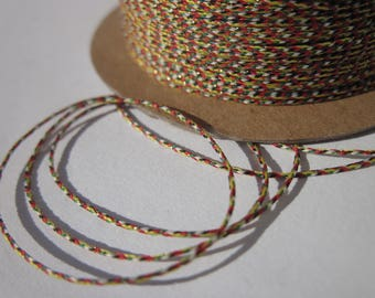 1 m of yarn with multiple strands of cotton and glitter gold 0.4 mm (152)