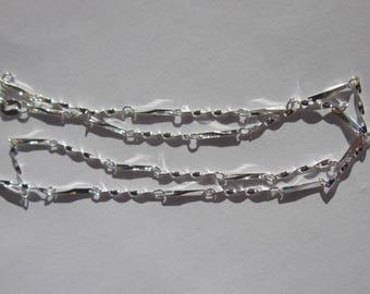 1 chain fine silver shiny 41 cm long (7).
