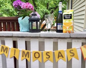 Mimosa Bar banner bridal shower CLEARANCE