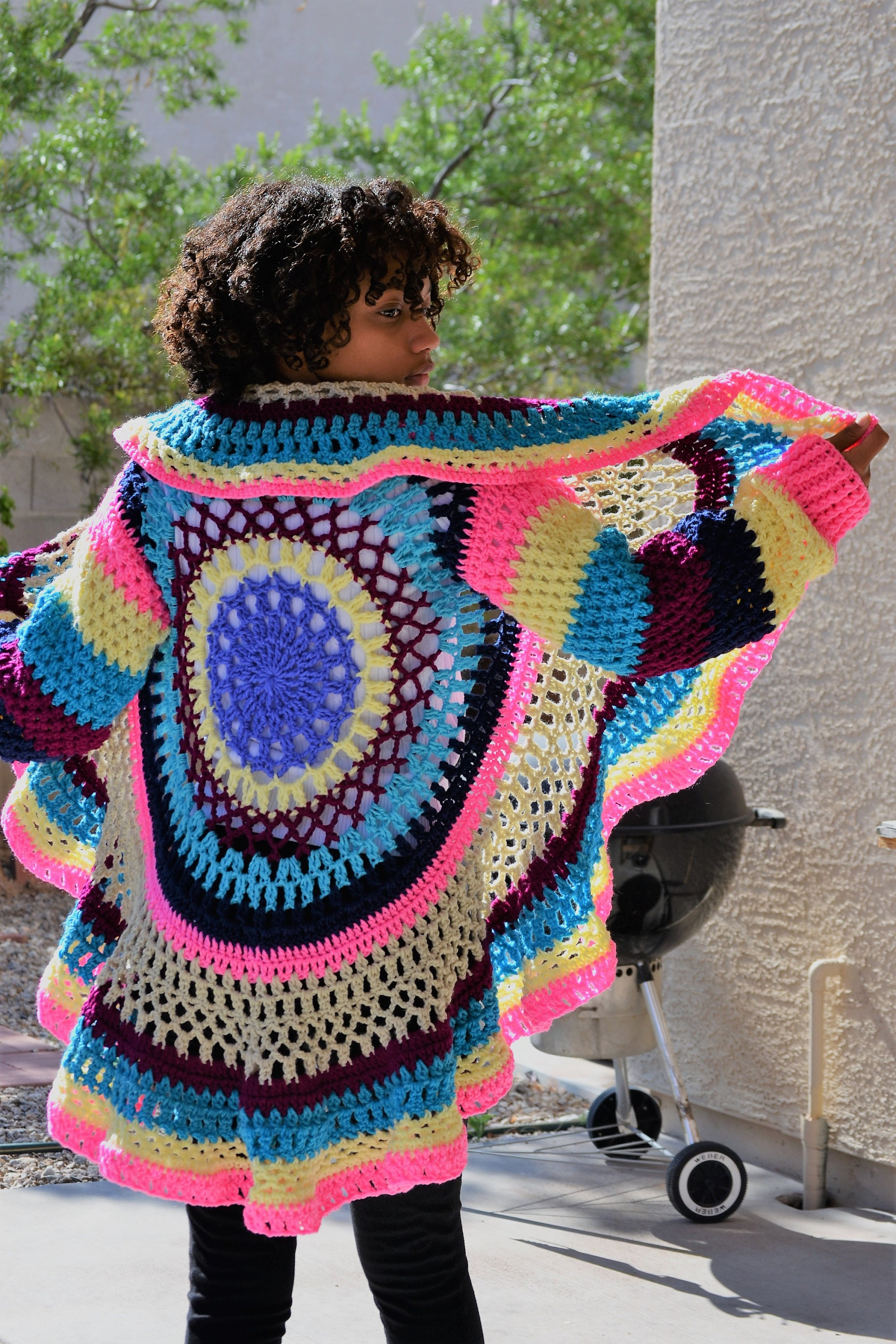 Crochet mandala sweatercircular cardigan crochet sweater description this listing is for the above pictured circular crochet cardigan bankloansurffo Image collections